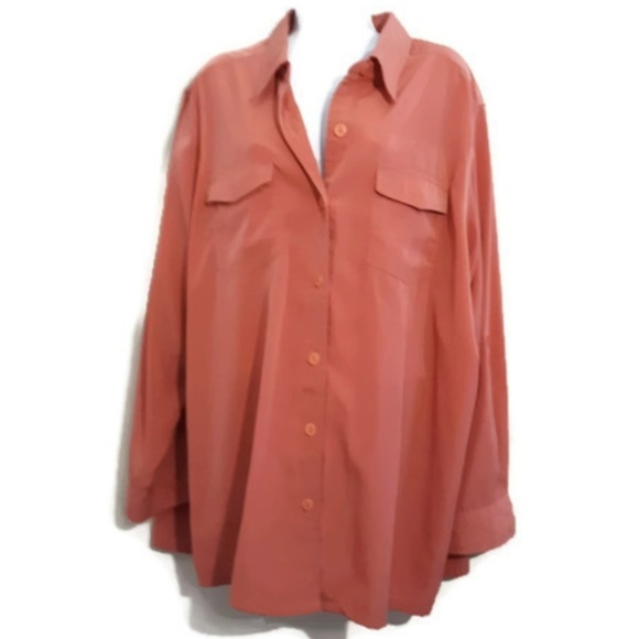 f3ec5c1e326 5 For  20 Size 24W Button Front Long Sleeve Blouse
